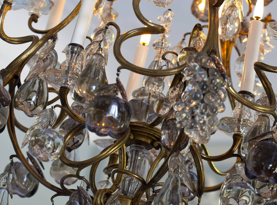 Chandelier chambre augustin - Luxury accommodation provence