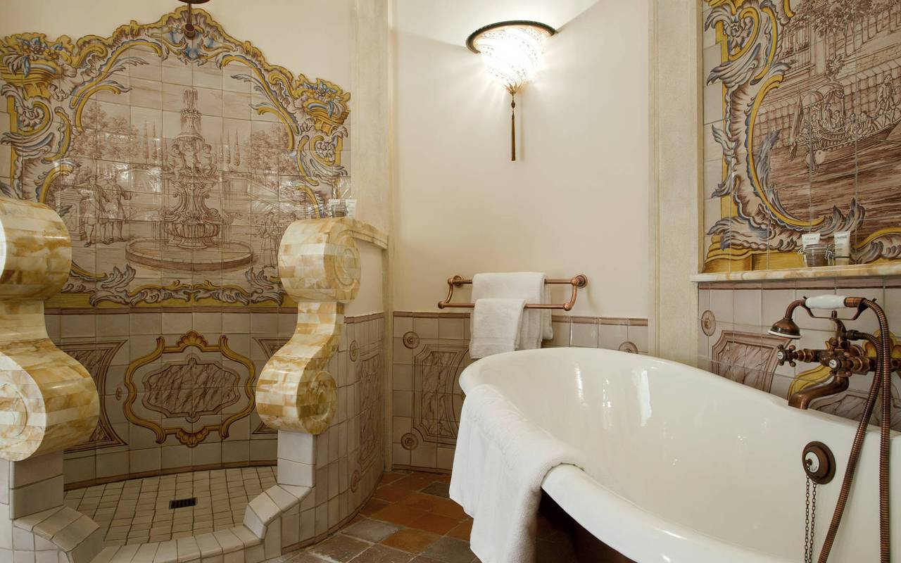 Bathroom pierre dalamon room - provence wine tours