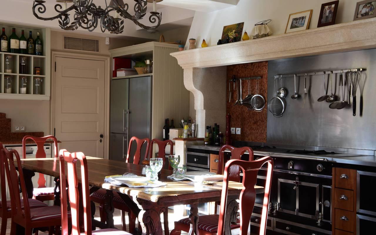 cuisine villa - maison d'hotes de charme provence