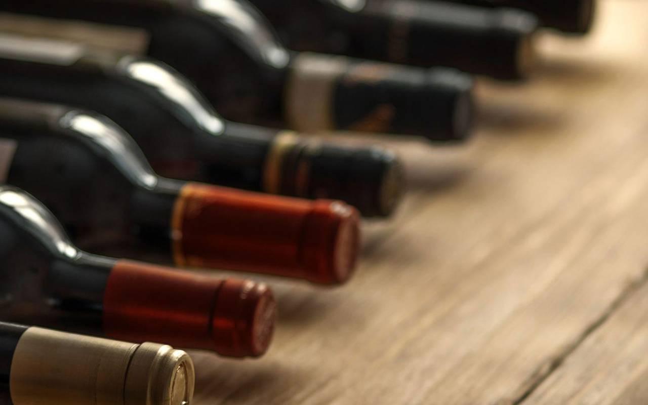 Bouteilles de vin - vignoble aix en provence