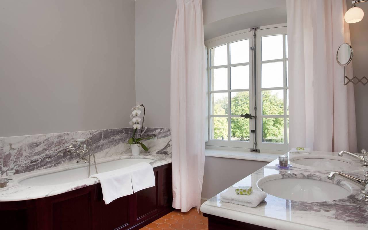 salle de bain chambre olivier de serres - maison d hote de charme provence