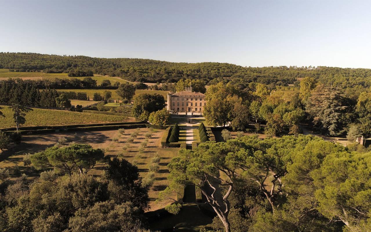 Vue aérienne de la Villa Baulieu - Maison d'hôte de charme luberon