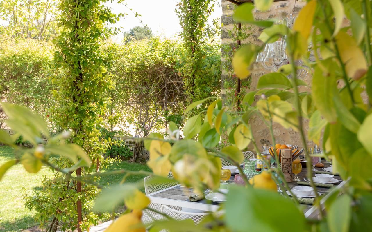 Exterieur villa les granges - maison d hote aix en provence