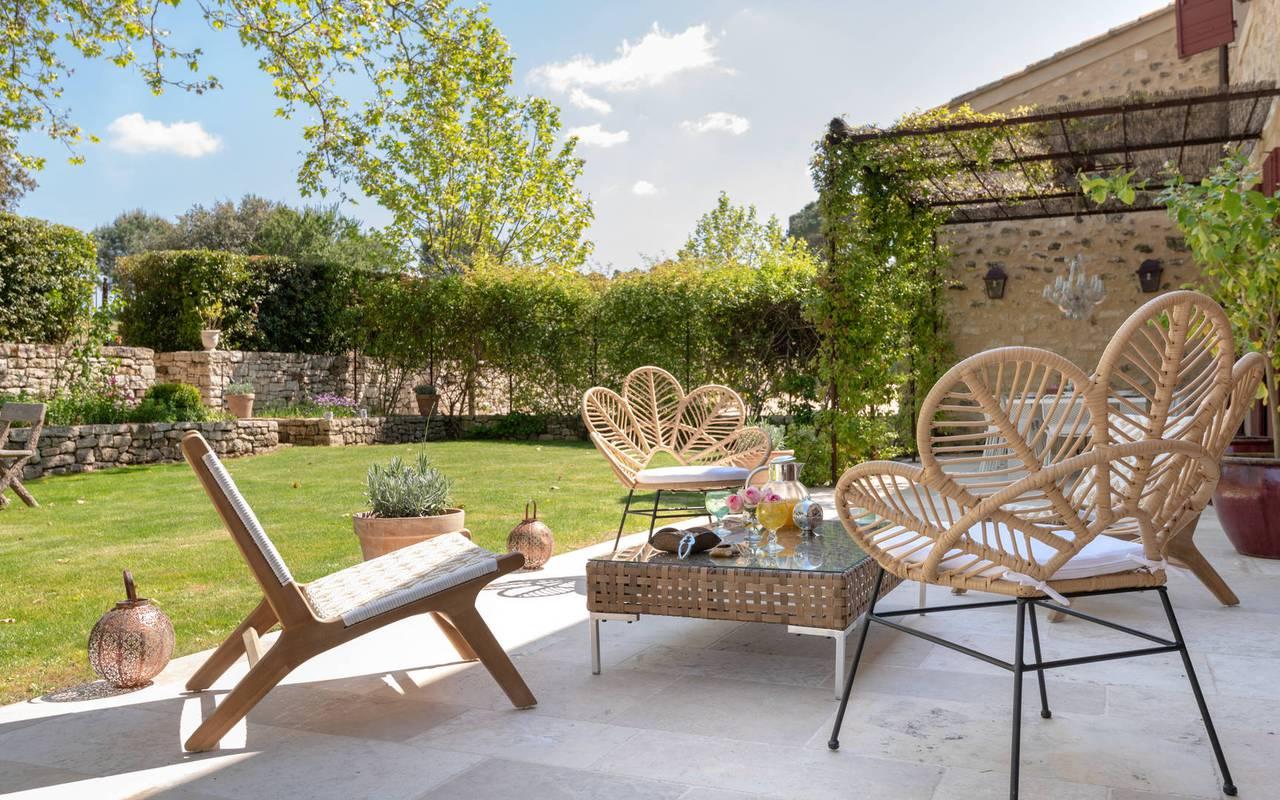 jardin villa les granges - domaine viticole aix en provence