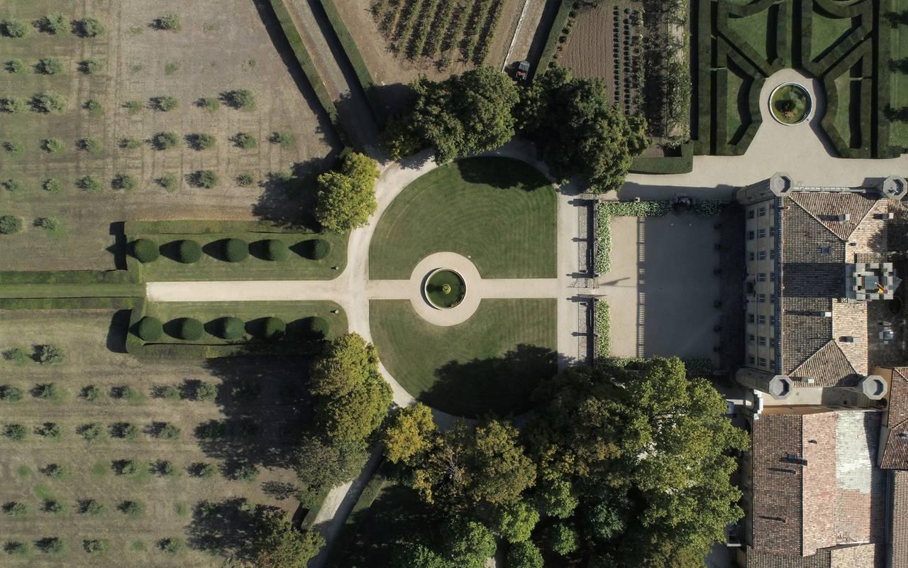 Vue aérienne villa - maison d hote de charme luberon