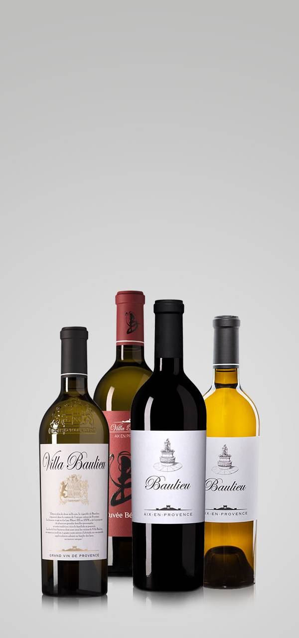 Bouteilles de vin - Vignoble provence